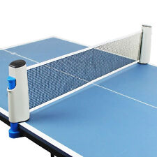 2m Tragbar Tischtennisnetz Tischtennis Netz  Tennis Net Stütze-Klammer Pro· NEU.