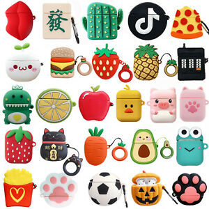 3D Cute Avocado Silicone Airpod Protective Case Cover Skin For Apple Airpods 1&2