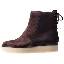 Clarks Originals Timberly Grace Khaki/Brown Combi Suede Ankle Boots Size 4 / 37