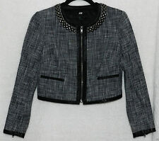 H&M Cotton Blazer Cropped Coats & Jackets for Women