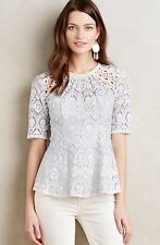 NEW Anthropologie Signa Lace Top in Blue Size 10