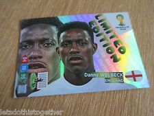 Panini Adrenalyn XL World Cup 2014 Danny Welbeck Portrait Limited Edition Card
