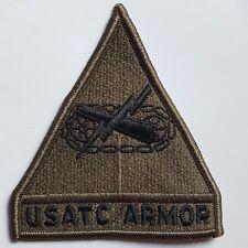 U.S. Army Patch Patch estados unidos Training Center Armor Fort Knox verde oliva subdued Tarn