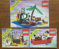 Lego Pirates 6260, 6235, 6245 instructions only Vintage and Rare