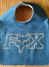 Fox Logo baby bib (blue)