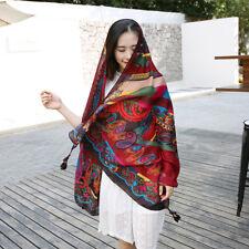 "Women's Boho Paisley Print Blanket Shawl Scarfs Soft Big Sunscreen Wraps 71""*37"""
