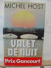 * LIVRE - VALET DE NUIT DE MICHEL HOST