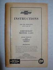 Chevrolet 1918-19 V8 - Instruction Book, Reprint 60er Jahre, 88 Seiten, english