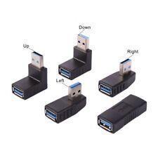 5pcs/set USB 3.0 A Male to A Female Converter Adapter 90 Degree Angle Plug