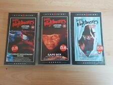 3 x RARE Freddy's Nightmares - Nightmare on Elm St. VHS - 2 SEALED TAPES!! video