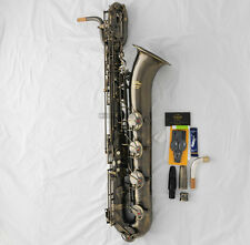 Professional TAISHAN Antique Baritone saxophone Sax Germany Mouthpiece With Case