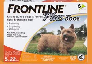 FRONTLINE Plus Flea & Tick Treatment for 5-22 Dogs , 6 Doses