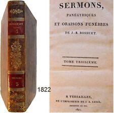 Oeuvres choisies de Bossuet T.7 Lebel 1822 Sermons panégyriques oraison funèbre