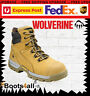 """New Wolverine Work Boots Safety Steel Toe Cap WHEAT 6"""" Tarmac W81017"""