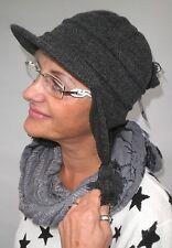 Damen Mütze Strickmütze von McBurn Schwarz Wintermützen Damenmützen Damenhüte