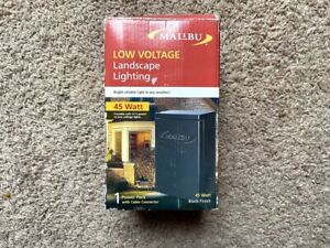 Malibu Low Voltage Landscape Lighting 45 Watt Power Pack w/Cable Connector NOS