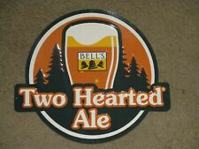 Bells brewing Michigan light hearted ale beer fishing tin sign northwoods new