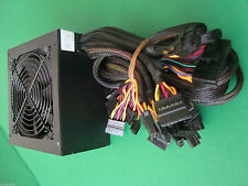 LARGE Fan 650W 650 Watt 600W ATX Power Supply SATA for 450W 500W 550W PSU LED