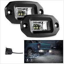 2 Pcs 20W Flush Mount LED Pods 6000K White Car Truck Flood Lights Working Lamps
