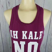 Victoria's Secret Pink Womens XS Oh Kale No Racerback Tank Top Purple Workout