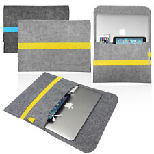 Smart laptop Felt Sleeve Case Cover Bag with Colourful BAND for Apple MacBook