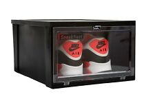 SneakNeat™ Mens Drop Front Shoe Box (1 Unit) Stackable Sneaker Container Large
