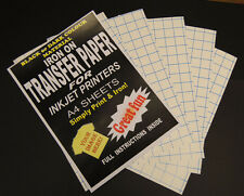 Inkjet Iron On T Shirt Fabric Transfer Paper A4 20pk (Dark Fabrics)