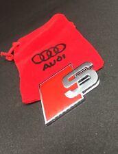 Audi S Metal Badge Rear Boot Emblem S Line A 1 2 3 4 5 6 7 8 Q RS S