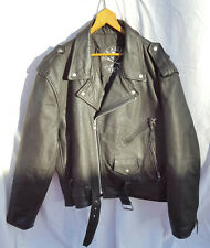 Enuff Z'nuff Leather Jacket with LOGO on back - Autographed Sz 46
