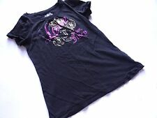 Juicy COUTURE splendido Nero T-SHIRT Tg. 8128