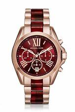 Michael Kors Bradshaw Rose Gold Red Chronograph MK6270 Women Watch