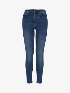 Whistles Women Sculptured Skinny Jeans, Blue Denim, ANKLE LENGTH