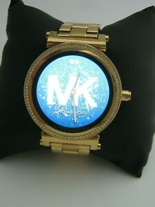 MICHAEL KORS ACCESS SOFIE SMART WATCH MKT5021 GOLD STAINLESS STEEL CRYSTALS