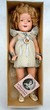 """Shirley Temple Composition Doll All Original NRA Tag w Box Booklet Button 21"""""""