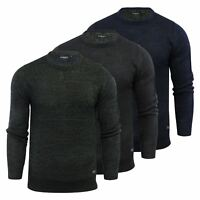 Mens Jumper Brave Soul Dennet Waffle Kintted Crew Neck Sweater