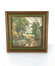 Vintage Masterpiece Art on Ceramic Tile Custom Framed Creations by Deede