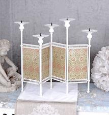 Kerzenhalter WEISS Kerzenleuchter Jugendstil Leuchter antik Kandelaber