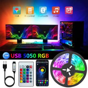 RGB LED TV Strip Lights USB 5050 5V App Color Color Backlight light Key Remote