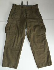 Vintage 1959 M39 Style Wool Army Pants Wind Barrier Thighs Green Size 34x28 Good