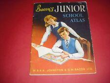 1967 VINTAGE BACONS JUNIOR SCHOOL ATLAS INCLUDES DUST COVER