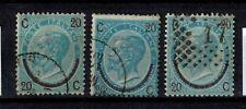 Briefmarken Italien 25 I - III gestempelt König Viktor Emanuel II.