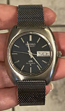 RARE Vintage SEIKO Automatic LM LORD MATIC 23j 5606-6020R Men's Watch Blue Dial