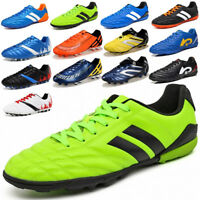 New Kids Adults Outdoor Sports Shoes TF Turf Sole Soccer Football Trainers Shoes