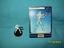 WotC Star Wars Miniatures Stormtrooper, Rebel Storm 37/60, Empire, Com w/Error