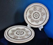 Antique Early WEDGWOOD CHESNUT Brown 4 Dinner Plates Classic Elegance