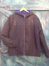 Mens Black Quilted Puffer Jacket Size L Airwalk Camouflage Zip Up Bomber Vgc