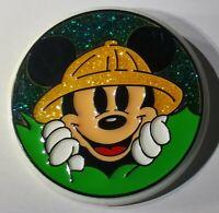 Vintage Rare Plastic Monogram Safari Walt Disney World Mickey Mouse Retro Button