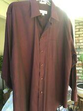 "Men's DRESS SHIRT ""Wine"" Ultra Soft , SIZE 16.5, 32/33  Pronto Uomo Classico"