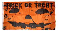 3x5 Happy Halloween Trick or Treat Pumpkin Jack o Lantern Flag 3'x5' Grommets
