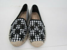 New Isaac Mizrahi Live! Espadrilles with Eyelet Embroidery,Black Color, Size 9 M